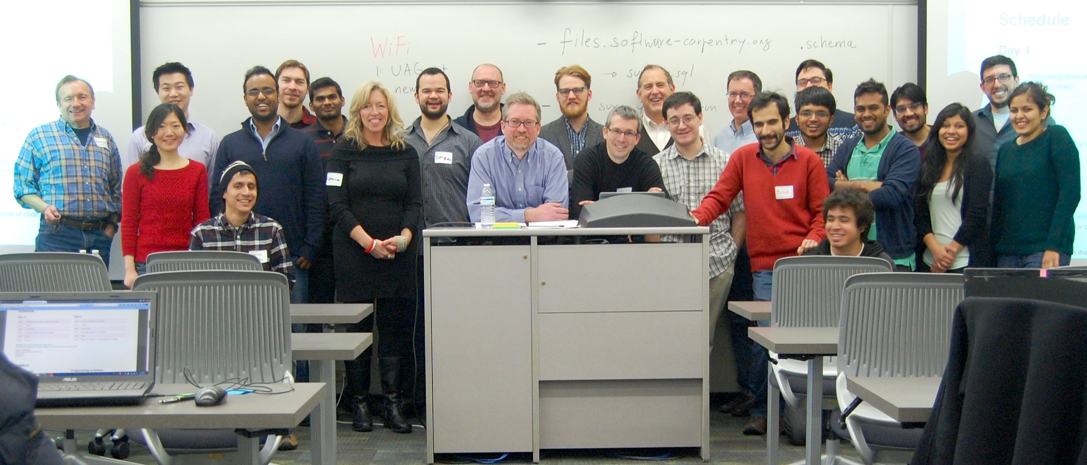 Software Carpentry Workshop attendees at UAlbany Jan 31-Feb 1, 2015