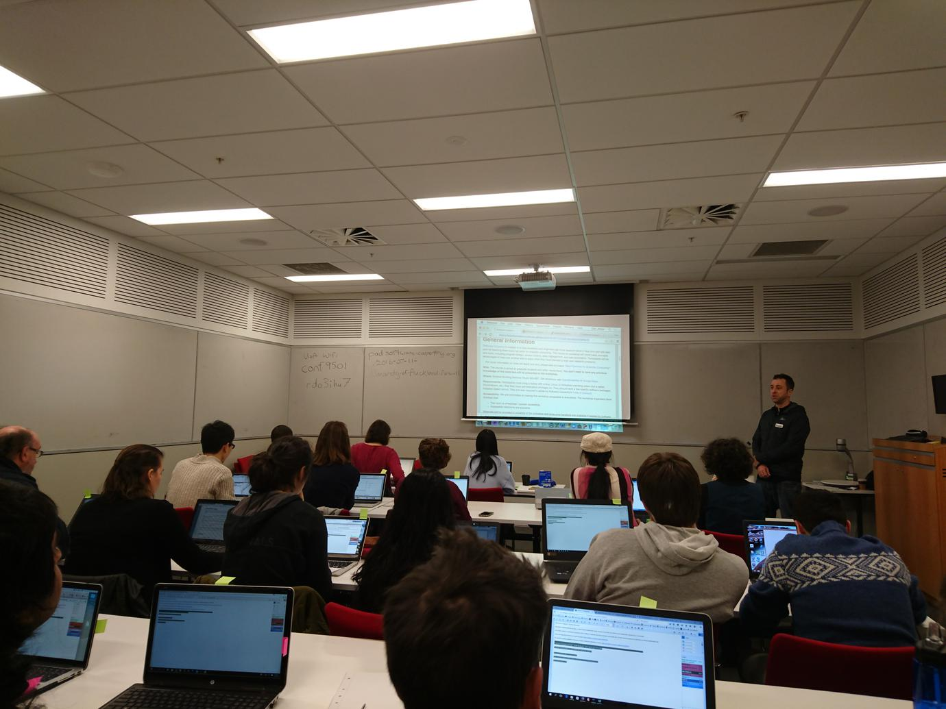 Software Carpentry Training at Auckland - Winter bootcamp