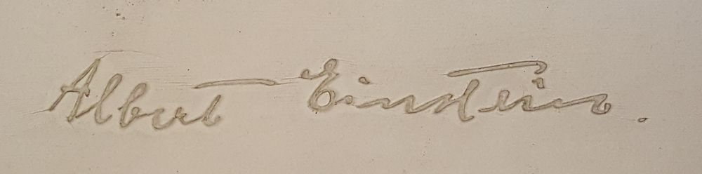 Albert Einstein signature