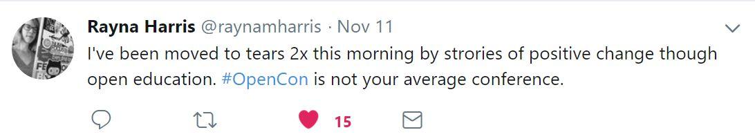 Rayna's tweet